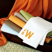 Shopping challenge: Affordable monogrammed  sheets for Jean