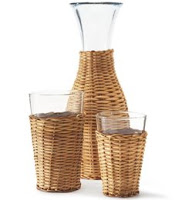 Things I Love Today: Rattan Glassware