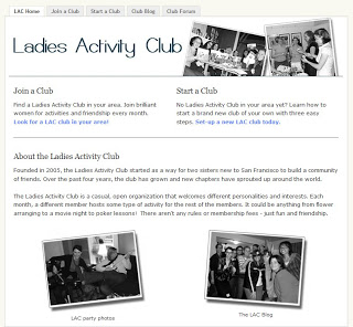 Introducing the Ladies Activity Club website!