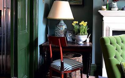 Coveted: Green Velvet Sofa