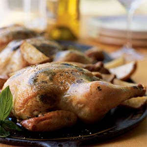 Recipe: Cornish Game Hens with Smashed Potatoes