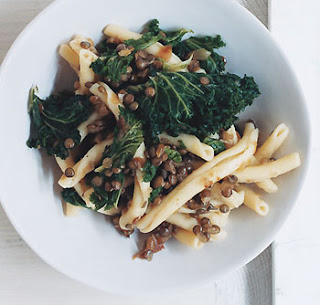 Recipe: Rigatoni with Lentils and Kale