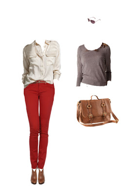 What to Wear: Red Jeans