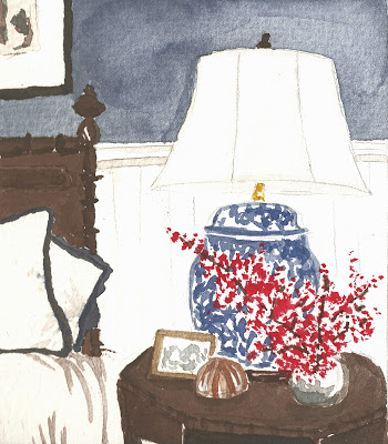 Painting: Blue Bedside