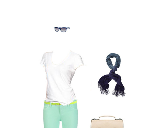 What to Wear: Seafoam Jeans