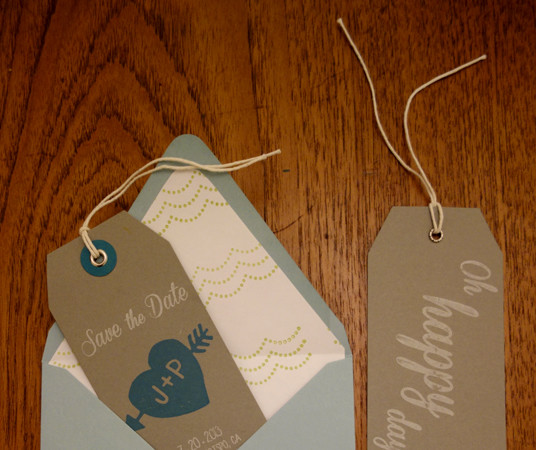 Wedding Save-the-Date Tags