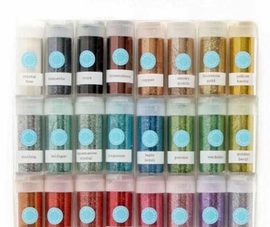 Two Valentine Ideas Using Martha Stewart's Glitter Collection