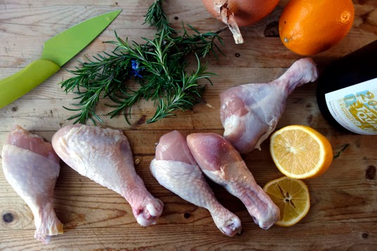 Citrus Rosemary Chicken in a Cast-Iron Dutch Oven
