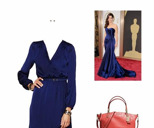 What to Wear: Sandra Bullock in Royal Blue, 2014 Oscars Inspiration