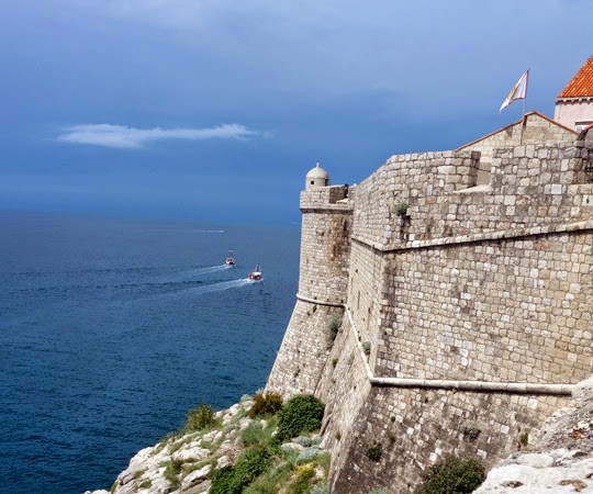 Walking the Middle Ages City Fortress in Dubrovnik, Croatia