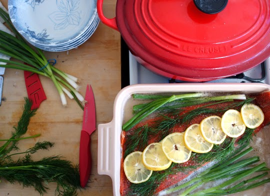 Weekly Dinner Party: A Casual Roasted Salmon Menu