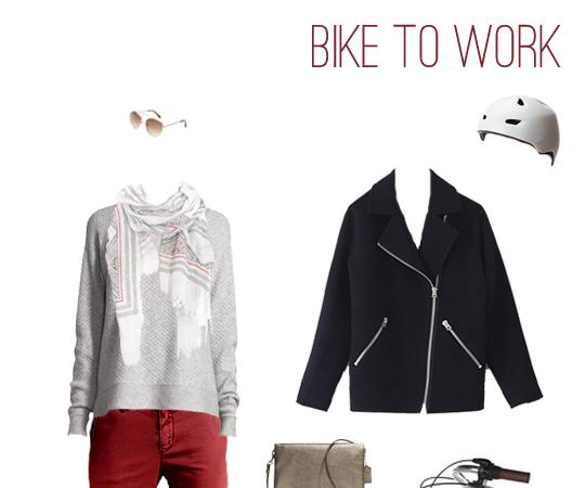 What to Wear: Biking to Work in Brick Red Chinos