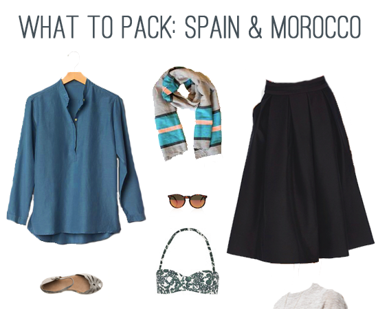 What to Pack: Spain & Morocco In Summer