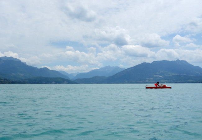 Paddleboat Picnic on Lake Annecy