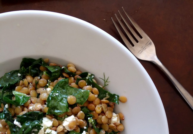 Warm Green Lentil & Kale Salad: A Favorite Work-from-Home Lunch