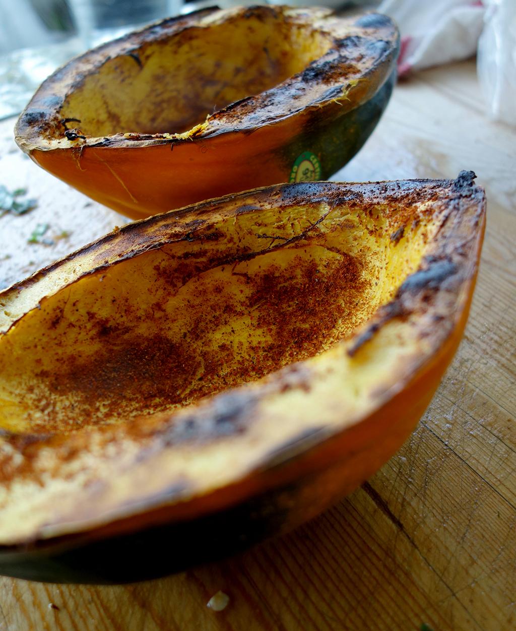Acorn squash pozole