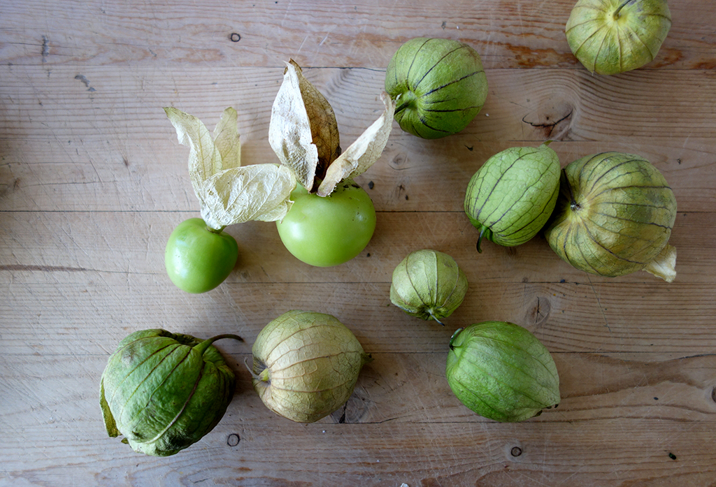 Tomatillos for pozole stew