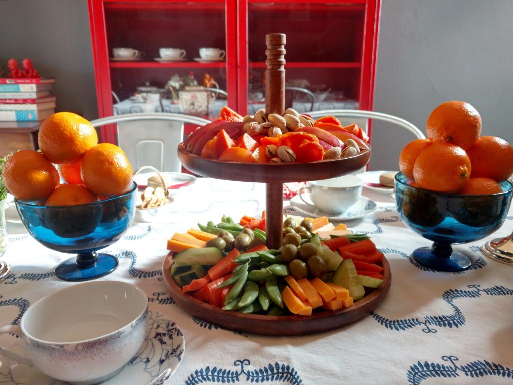 Tower of gluten free tea snacks