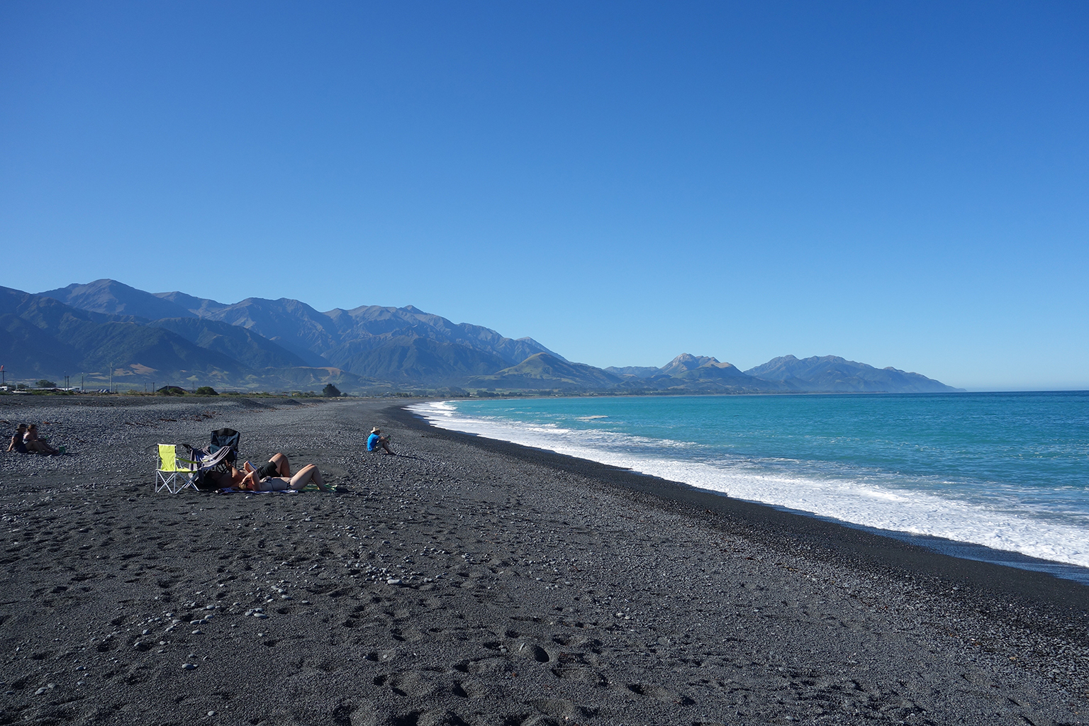 Evening beach time in Kaikoura, NZ