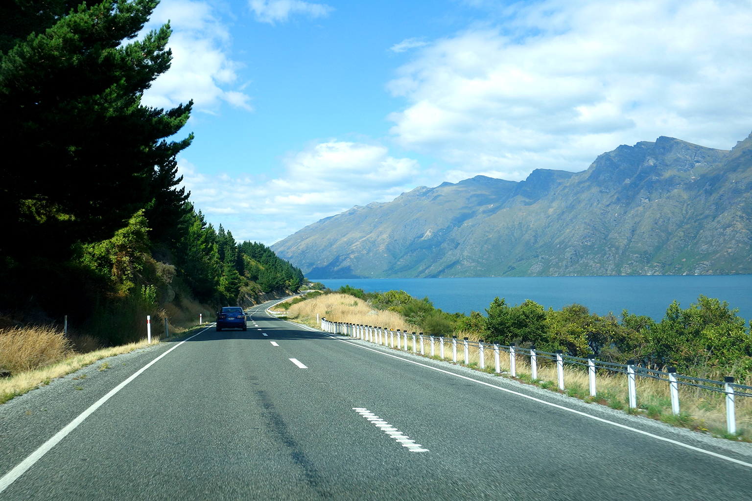 Driving from Queenstown to Invercargill