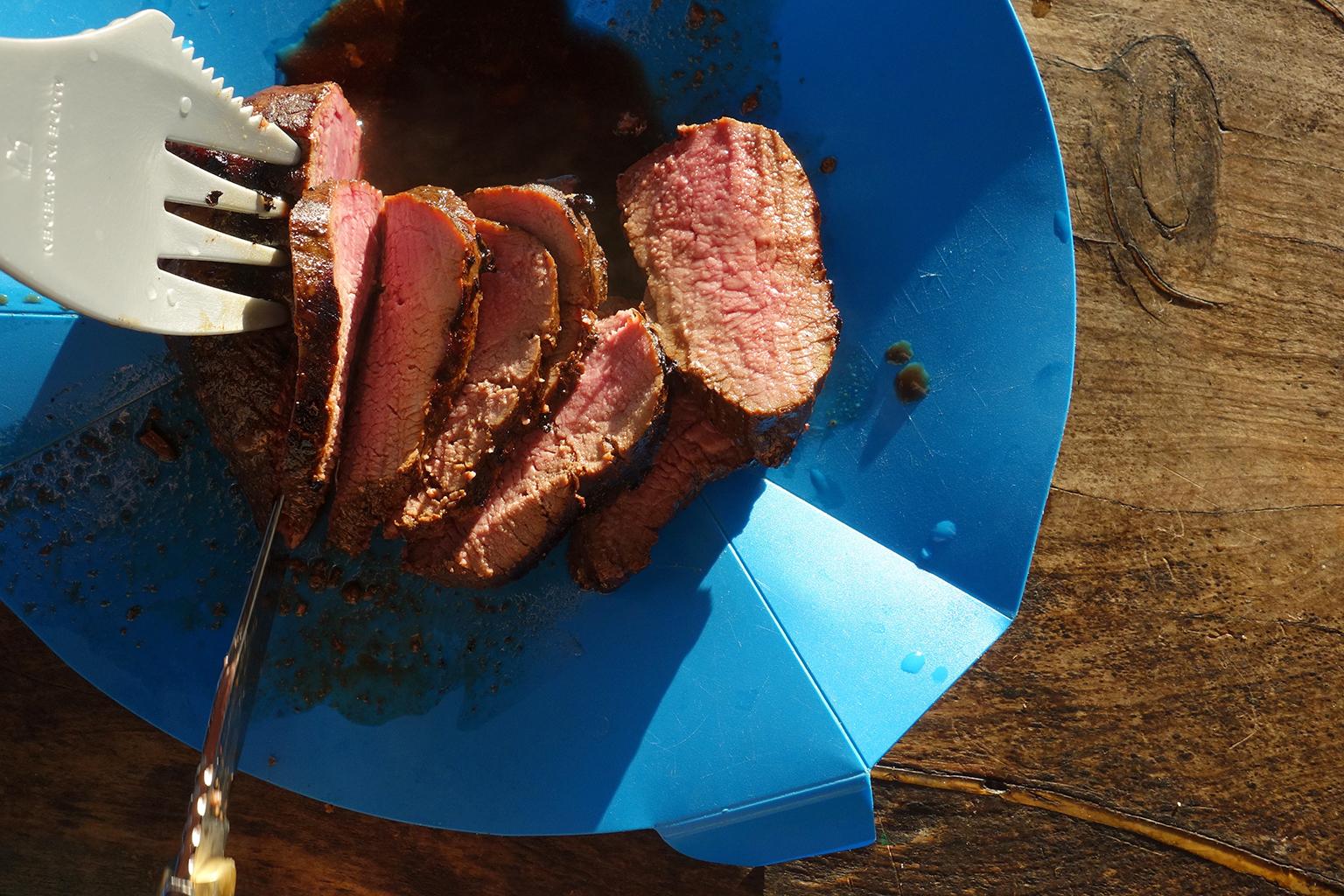 BBQ venison in Kaikoura, NZ