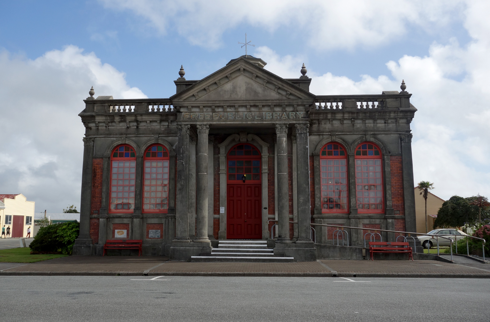 Free library in Hokitika, New Zealand