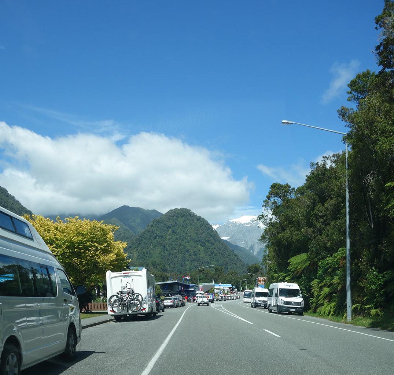Approaching Franz Joseph town