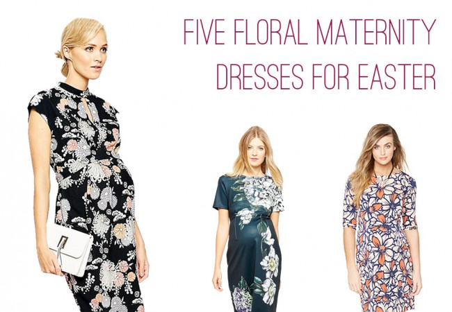 5 Flowery Maternity Dress Options for Easter