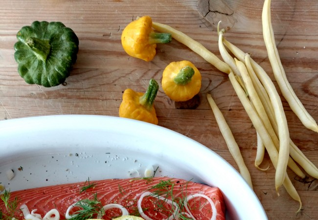 An Easy Gluten-Free Salmon Menu for a Mid-Week Networking Dinner Party