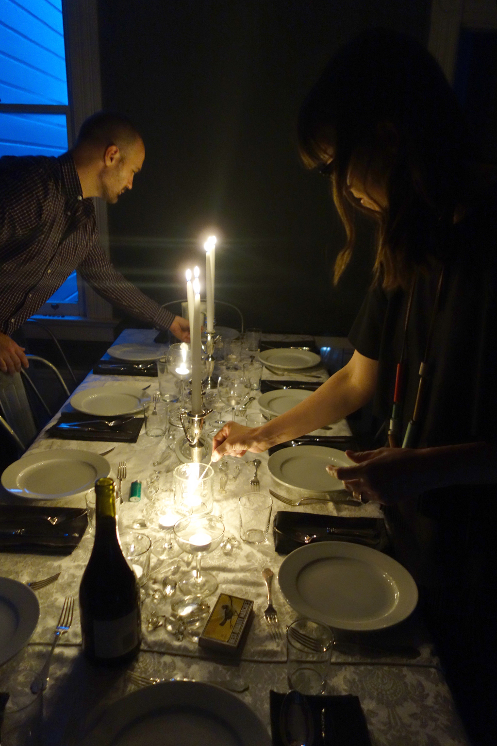 Candlelit dinner for 10