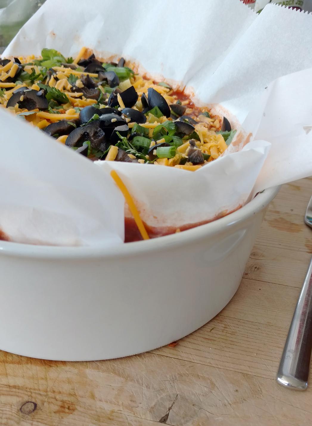 Sweet potato post-partum enchiladas