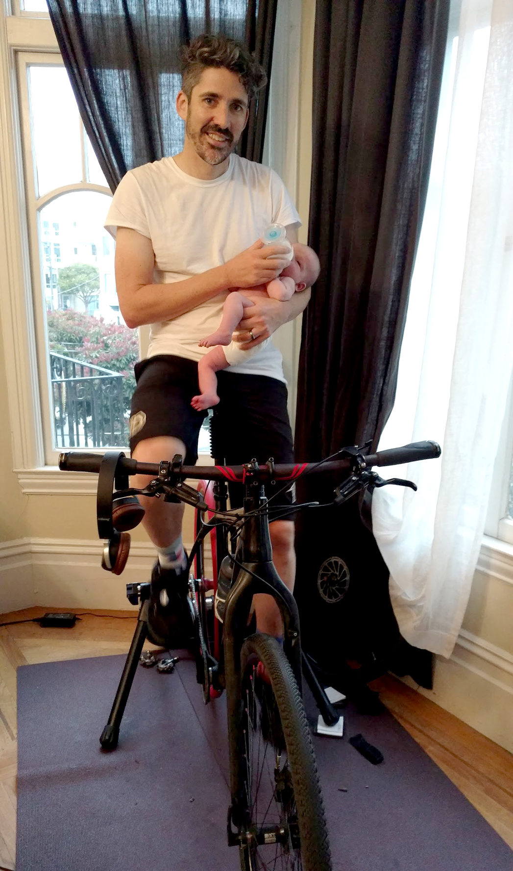 Biking with a newborn