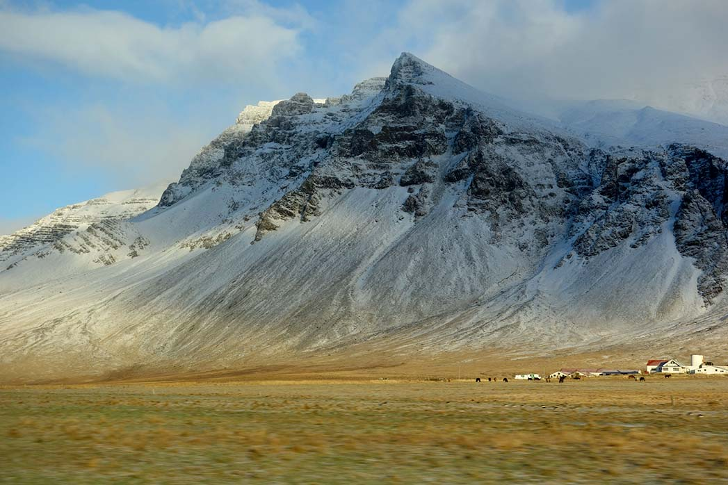 Driving west Iceland