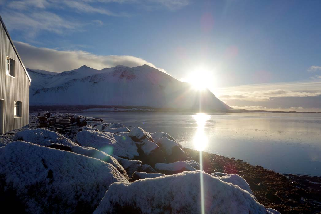Borgarnes harbor Iceland