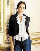 Things I love today: Ruffled tuxedo blouses