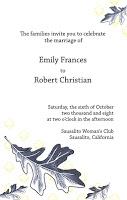 Wedding Invitation Drafts