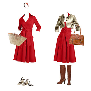 What to Wear: Red Shirtdress for All Seasons
