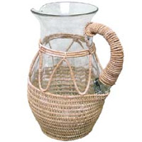 Things I Love Today: Wicker Glassware