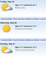 Good Weather on the Way