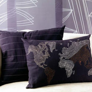 Things I Love Today: Ikea World Map Pillow