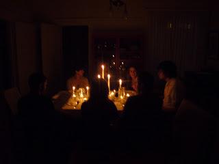 To Do: Earthquake Blackout Dinner