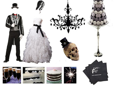 Halloween Party Idea: Black & White Ghouls Ball
