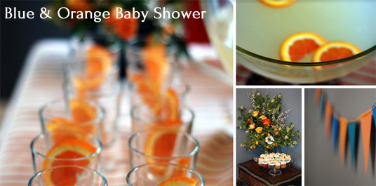 Party Recipe: Blue and Orange Baby Shower