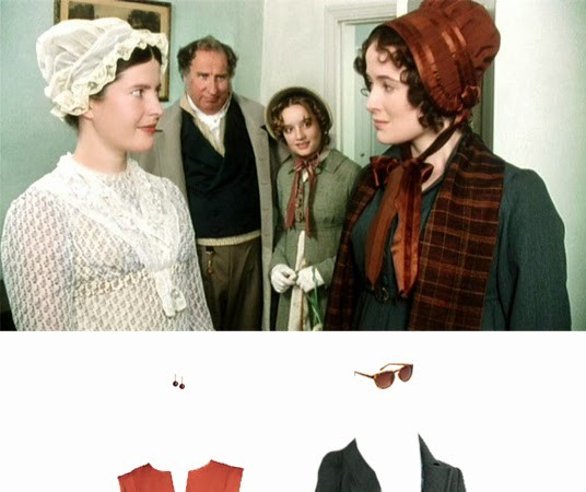 What to Wear: A Coral and Green Travel Outfit Inspired by Lizzie Bennet, Pride & Prejudice