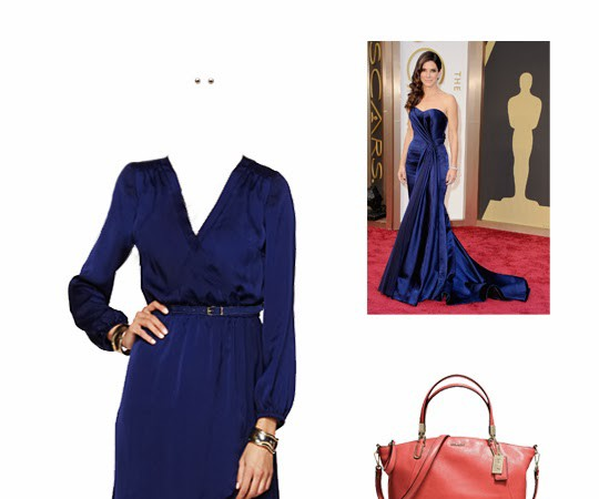 What to Wear: Sandra Bullock in Royal Blue, 2014 Oscars Inspiration