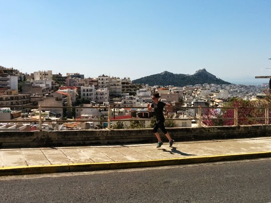 Running to Attica Woods in the Hills of Athens, Greece
