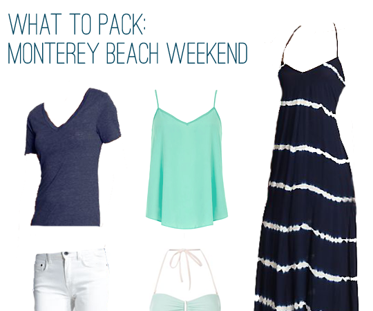What to Pack: Beach Weekend in Monterey, California