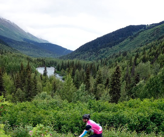 Biking and Driving the Seward Highway in Alaska