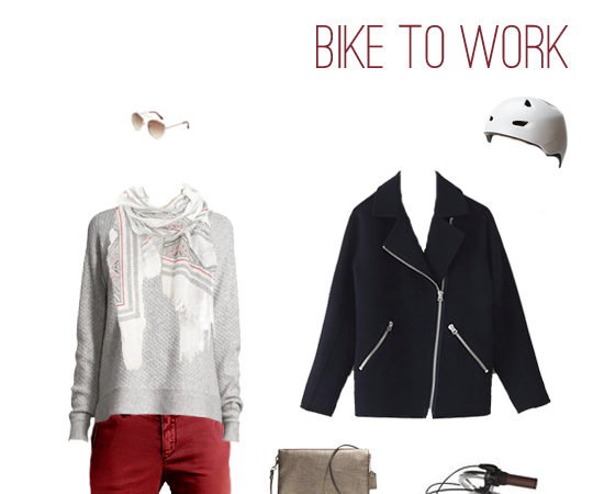 What to Wear: Biking to Work in Brick Red Chinos