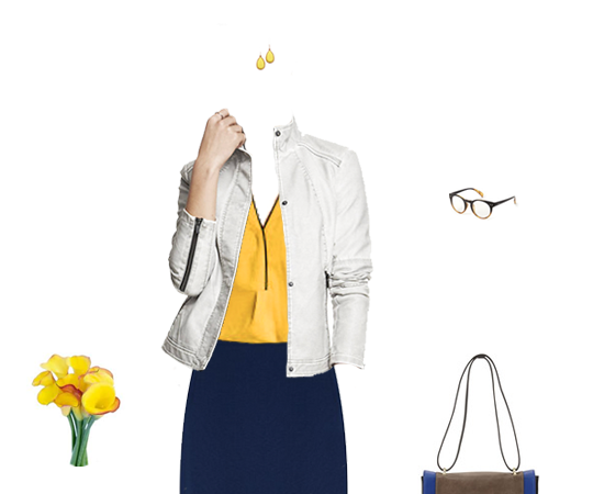 What to Wear: Mustard Yellow and Navy